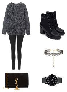 """""""Black Winter"""" by washingtonkellie on Polyvore featuring Topshop, Toast, Zara, New Look, The Horse and Yves Saint Laurent"""