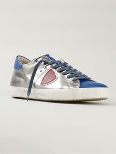 Shop PHILIPPE MODEL appliqué detail metallic sneakers from Farfetch