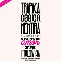 dia do alivio - forfun ⚪ www.musicaletria.com.br ⚪ #tipografia #musicaletria #forfun #typography #rock #music