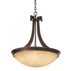 Kalco Copenhagen 5 Light Bowl Pendant Finish: Tortoise Shell, Shade Type: Iridescent Shell