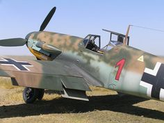 Tropicalised Bf109F in North Africa, early 1942.  The RAF were still using Hurricanes and Tomahawks; no match.