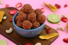 'Fruity Pebbles' Dried Fruit and Nut Energy Balls | Paleo & Vegan No Bake Energy Bites | Mind Over Munch; delicious!