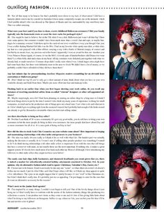 Janine Basil designer feature and interview in the October/November 2013 issue of Auxiliary Magazine.  Interviewed by Vanity Kills