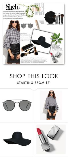 """""""SHEIN CONTEST"""" by redcoat-i ❤ liked on Polyvore featuring Ray-Ban, Chanel, Burberry and Iman"""