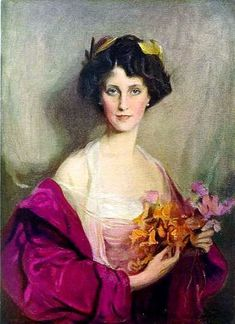 Philip Alexius de Laszlo: Portrait of Winifred Anna Cavendish-Bentinck (née Dallas-Yorke), Duchess of Portland Bird protectionist, philanthropist, Mistress of the_Robes to Queen Alexandra. Or shorter: Winifred Cavendish-Bentinck, Duchess of Portland L'art Du Portrait, Female Portrait, Female Art, Woman Painting, Painting & Drawing, Giovanni Boldini, Art Gallery, Foto Art, Old Paintings