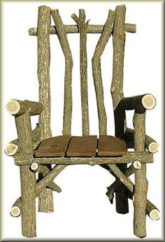 Love this chair...would look great made from Vine maple or Cherry wood too!