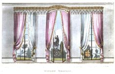Ah, spring. Time to open the windows and air the rooms …and to consider redecorating. Ackermann's Repository (1809-1829) didnt just cover fashion. The magazine also featured furniture …