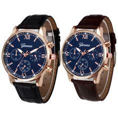 ae9f2261d1c Luxury Mens Watch Retro Leather Band Analog Alloy Quartz Military Wrist  Watches. Relógios Desportivos De HomemRelógios De Luxo ...