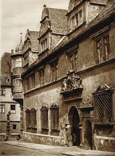 Residenzschloss in Coburg, Germany, pre-war era photograph of 1925 by Kurt Hielscher
