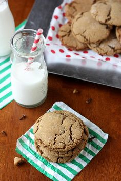 Chewy Gingersnap Cookies from Completely Delicious