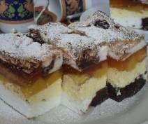 ciasto łaciate z brzoskwiniami