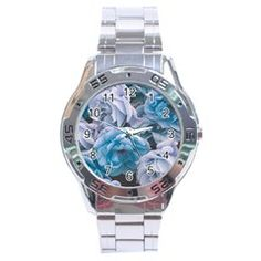 Great Garden Roses Blue Stainless Steel Men s Watch by MoreColorsinLife