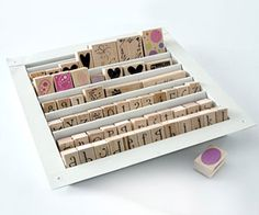 Creative way of storing stamps - a heating vent - who would've guessed it?