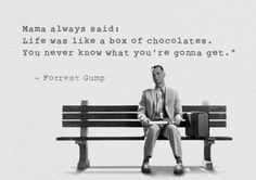 Forrest Gump is one of those movies that sticks with you long after you've seen it. Here is a curated collection of the best quotes from Forrest Gump. Chocolate Quotes, Chocolate Box, Forrest Gump Quotes, Inspiring Quotes About Life, Inspirational Quotes, Movie Quotes, Life Quotes, Cinema Quotes, Favorite Quotes
