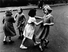 Children jiving, photographed by Roger Mayne, 1956. I loved to learn how to dance and I danced all the time.  B.