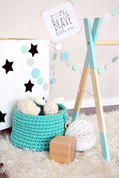 Wood Baby Gym without Gym Toys Mint Play Gym / by AZyDeco