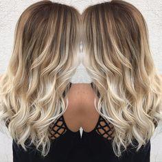 "55 Likes, 7 Comments - Madison Carr (@hairbymadisonamber) on Instagram: ""Im so obsessed with this balayage I did today  #platinumblonde #balayageombre #pinteresthair…"""