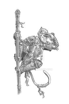 Image result for sun wukong tattoo