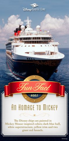 Did you know? Fun Facts about the Disney Cruise Line.
