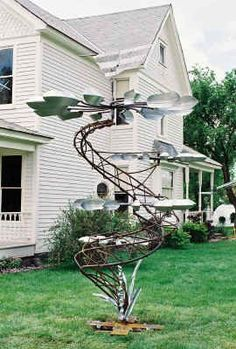 Solar Powered Spiral Wind Spinner With Colour Changing Led Light Garden Ornament Pleasant In After-Taste Night Lights