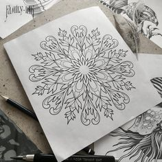 Mandala sketch by Family Ink
