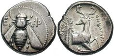 ≗ The Bee's Reverie ≗ Launceston Beekeepers - Ancient History - Bees Ephesus, second century BC Silver Tetradrachm. Bee Removal, Vintage Bee, The Future Of Us, Ephesus, Bee Art, Bee Keeping, Queen Bees, Ancient History, Archaeology