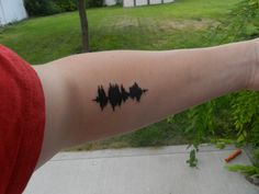 This is my first tattoo that I got from John at Krave Tattoo in Twin Falls, Idaho. It is a sound wave of the quote, to define is to limit.