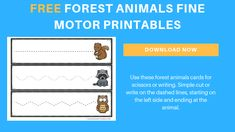 Creating a forest animals theme encourage our toddlers and preschoolers to become engaged in lots of hands-on activities. There are multiple sets of printables provided, too, that can be used in the classroom or homeschool. Two Years Old Activities, Writing Activities For Preschoolers, Fall Activities For Toddlers, Preschool Writing, Preschool Themes, Preschool Classroom, Infant Activities, Toddler Preschool, Motor Activities