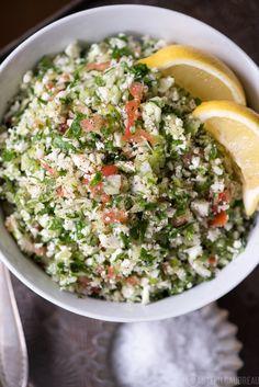 Grain-Free Tabbouleh Recipe #justeatrealfood #stupideasypaleo