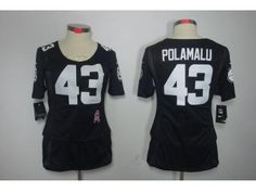 ... Jersey Nike Steelers 43 Troy Polamalu Pink With 80TH Patch Womens  Breast Cancer Awareness Embroidered NFL Elite Nike Limited Mens Pittsburgh  ... 16bc20a17
