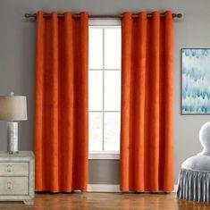 Elegant Contemporary Burnt Orange Curtains For Living Room Bedroom