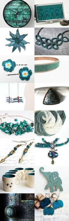 Some Teal-iscious Etsy Finds by Jen B. on Etsy--Pinned with TreasuryPin.com