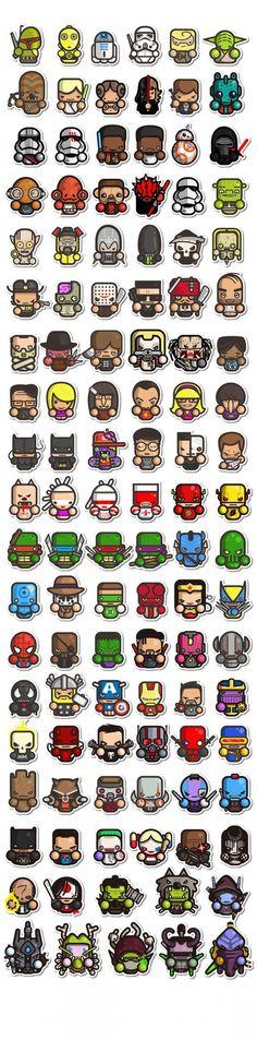 Constantly growing set of simple fanarts star wars videos, star wars icons Chibi, Star Wars Film, Logos Online, Game Design, Logo Design, Icon Design, Comic Art, Comic Books, Comic Movies