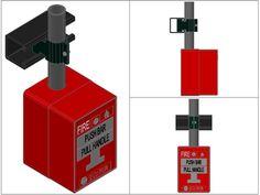 Pulsador de alarma de incendio 3d (dwgDibujo de Autocad)