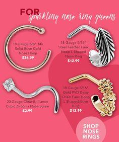 Nose Rings! New Body Jewelry @ BodyCandy.com Body Jewelry