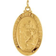 St. Christopher Medal - 14K Gold