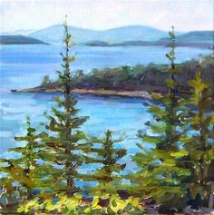 "Daily Paintworks - ""View from the Drive,landscape,oil on canvas,12x12,price$500"" - Original Fine Art for Sale - © Joy Olney"
