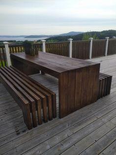 Wooden Garden Furniture, Diy Outdoor Furniture, Outdoor Decor, Backyard Garden Landscape, Backyard Landscaping, Wooden Patios, Front Yard Design, Modern Patio, Backyard Projects