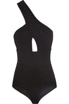 Zimmerman black one-shoulder swimsuit
