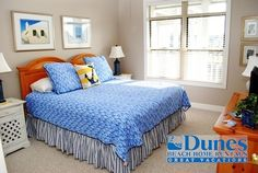 Master bedroom at Inlet Point 21C - Marsh view - Located at Litchfield Beach - Private Ocean Side Community.