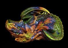 "Windstone ""Autumn Leaf 3"" Mother Dragon Figurine Mythical Animal Statue | eBay"