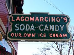 Moline, IL Lagomarcino's neon sign by army.arch, via Flickr
