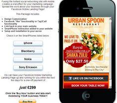 Restaurant example http://dwmc.mobi/socialmobile/restaurant/index.html