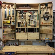 4 Stunning Diy Ideas: Used Woodworking Tools Videos essential woodworking tools other.Woodworking To Woodworking Tool Cabinet, Essential Woodworking Tools, Antique Woodworking Tools, Woodworking For Kids, Woodworking Workshop, Woodworking Jigs, Woodworking Furniture, Woodworking Projects, Youtube Woodworking