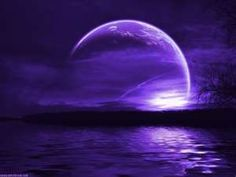 The violet moon shines upon us transforming everything into vision of beauty and tranquility