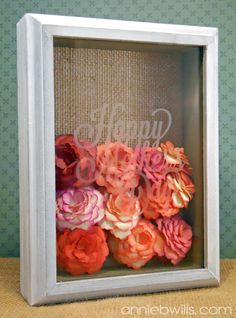 Mother's Day Shadow Box made with the Silhouette CAMEO and Glass Etching Starter Kit