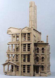 Passaic Paint - Buildings - Gallery - John Brickels, Architectural Sculpture and Claymobiles, Essex Jct, Vermont