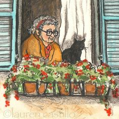 lady in the window by LaurenCastillo