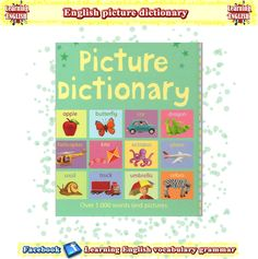 English picture dictionary in PDF to download for free to help with learning English