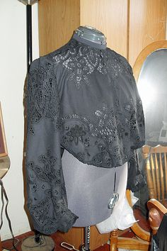 The Batternburg Tablecloth Edwardian Blouse - this is a dead link, but I'm sure it's the Truly Victorian Edwardian blouse made up out of a table cloth.  Genius if you can find a good price on the cloth!